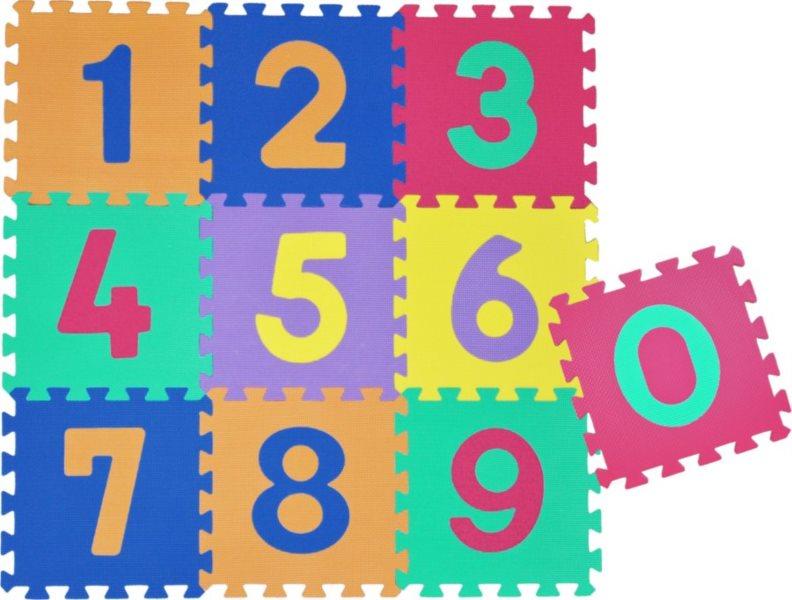 Pěnové puzzle Čísla III (30x30)