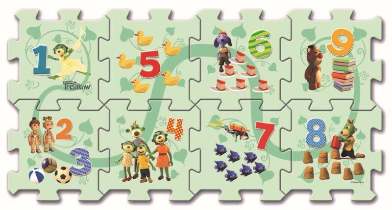 Pěnové puzzle Počítání s Treflíky