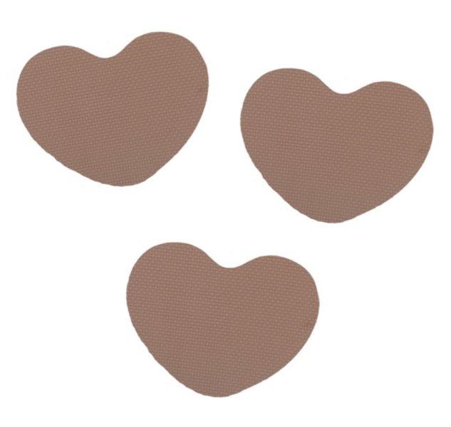 Pěnové Srdce - hnědé 3 ks