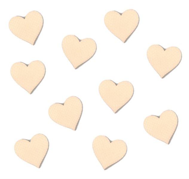 Pěnové Srdce (malé) - béžové 10 ks