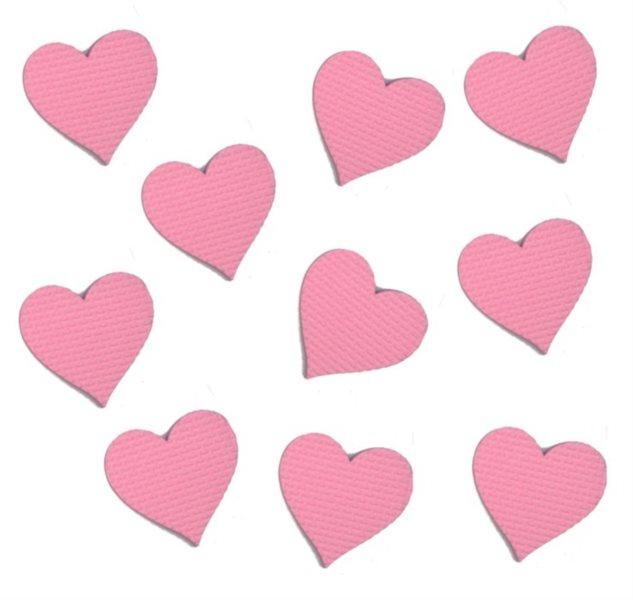 Pěnové Srdce (malé) - růžové 10 ks