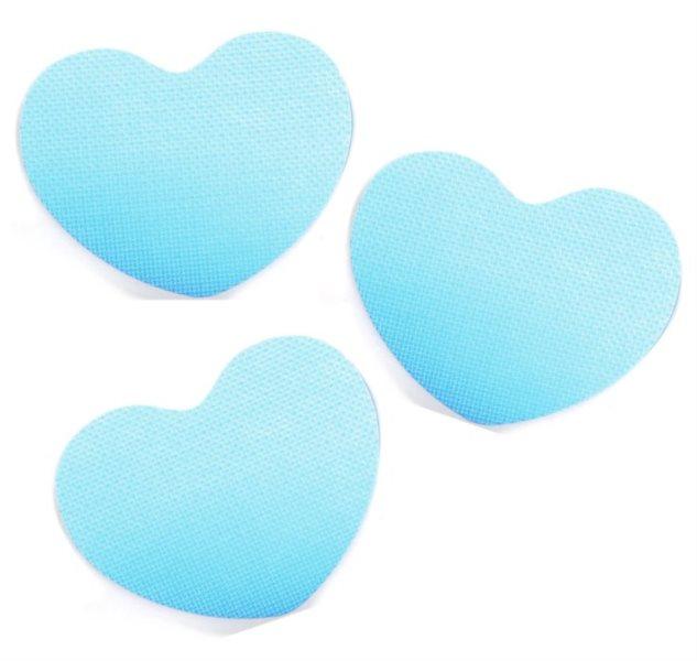 Pěnové Srdce - modré 3 ks