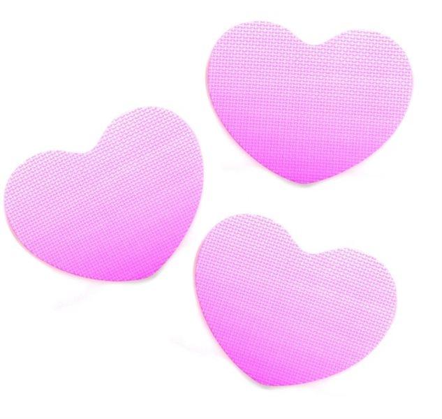 Pěnové Srdce - růžové 3 ks