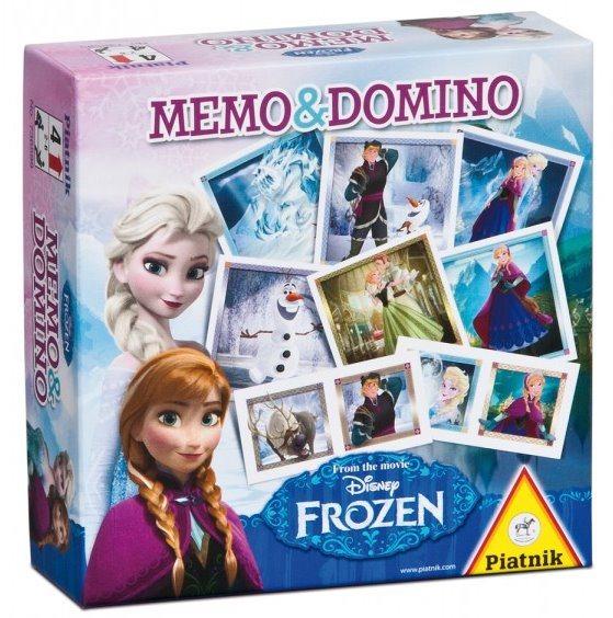 Pexeso a Domino PIATNIK 736599 Ledové království