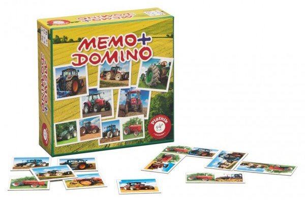 Pexeso a Domino PIATNIK 659492 Traktory