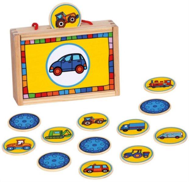 Dětské dřevěné pexeso Dopravní prostředky - 12 dvojic BINO 84043