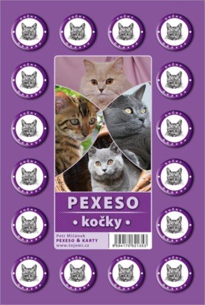 Rodinná hra Pexeso: Kočky