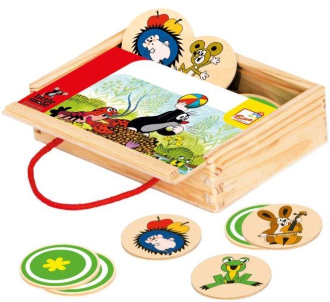 Dětské dřevěné pexeso Krteček - 12 dvojic BINO 13717