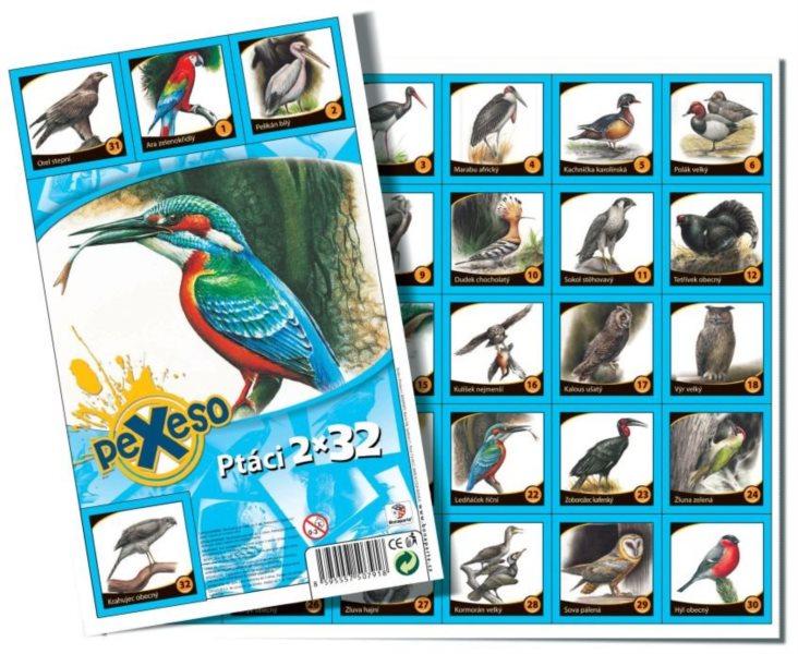 Pexeso - Ptáci