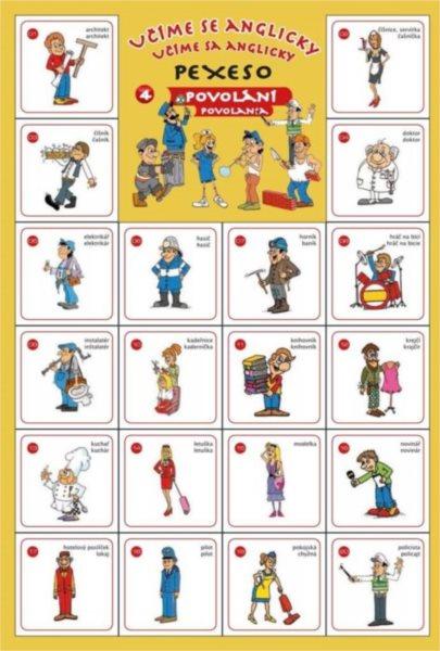 Rodinná hra Pexeso Učíme se anglicky: Povolání