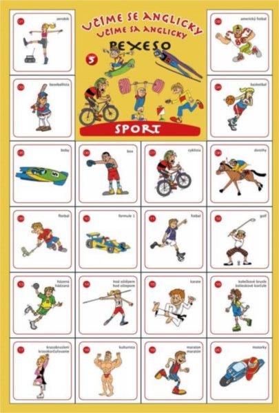 Rodinná hra Pexeso Učíme se anglicky: Sport