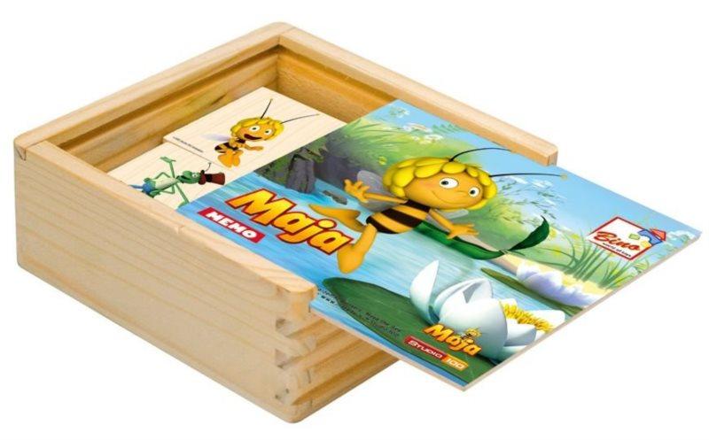 Dětské dřevěné pexeso Včelka Mája I - přírodní podklad BINO 13621