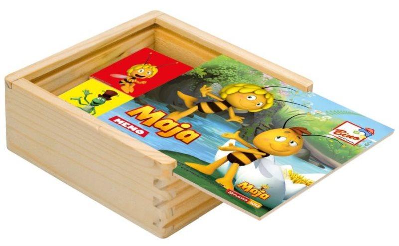 Dětské dřevěné pexeso Včelka Mája II - barevný podklad BINO 13619