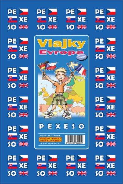 Rodinná hra Pexeso: Vlajky Evropy