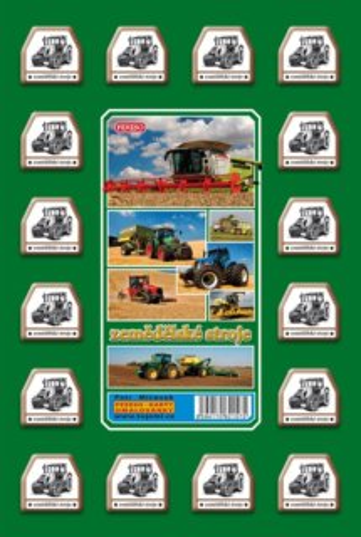 Rodinná hra Pexeso: Zemědělské stroje