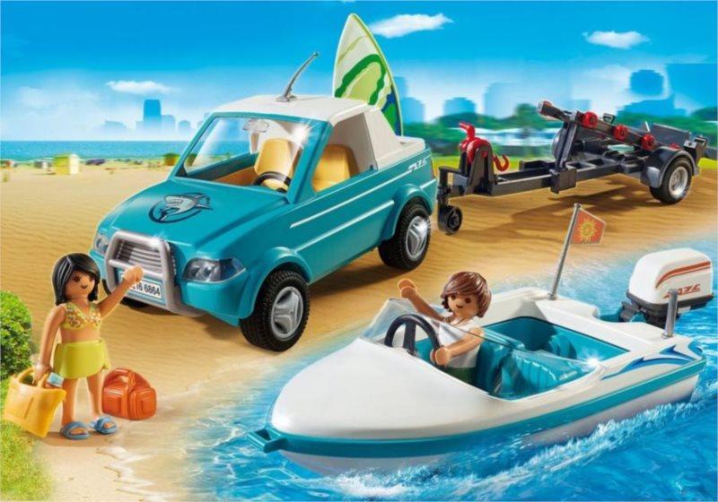 PLAYMOBIL® Summer Fun 6864 Pickup surfaře s motorovým člunem