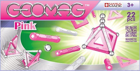 Magnetická stavebnice GEOMAG - Pink 22 dílků