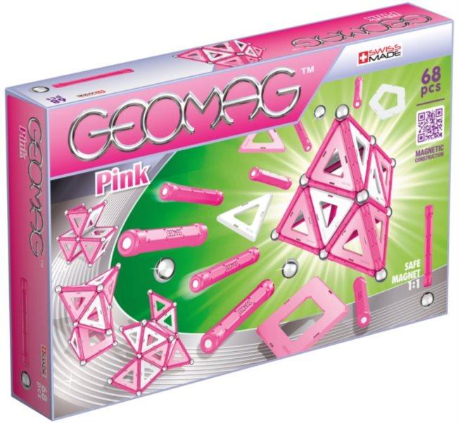 Magnetická stavebnice GEOMAG - Pink 68 dílků