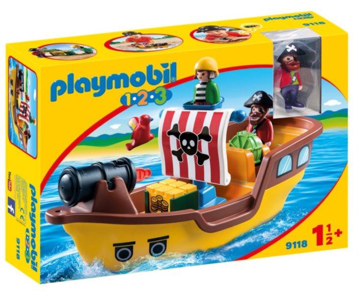 PLAYMOBIL Pirátská loď (1.2.3) 9118