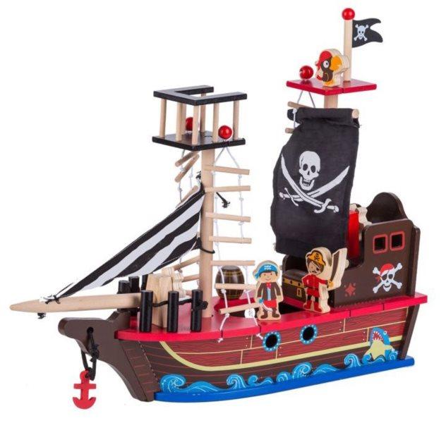 ECOTOYS Pirátská loď s figurkami