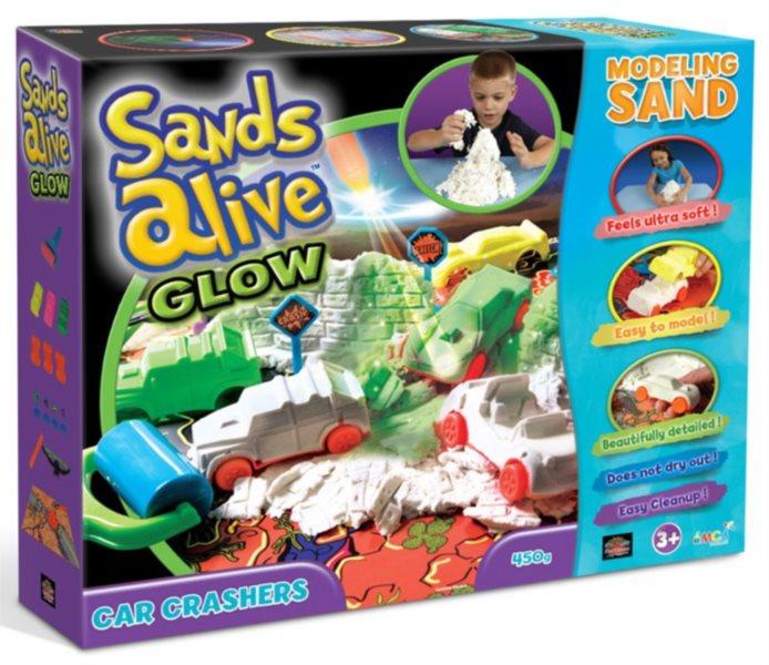 poškozený obal: Písek Sands Alive! GLOW - Bouračka