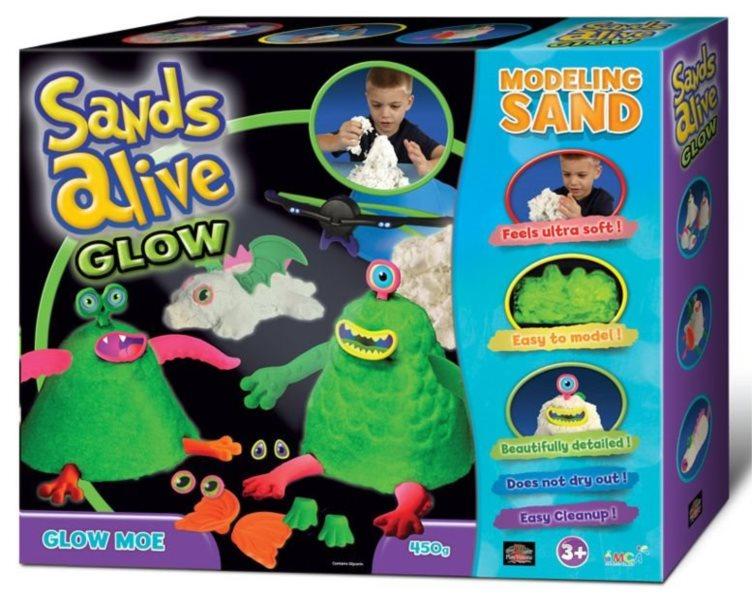 Písek Sands Alive! GLOW - Příšerky