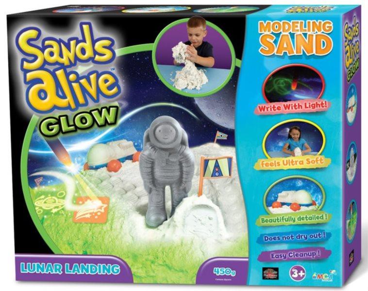Písek Sands Alive GLOW - Přistání na měsíci