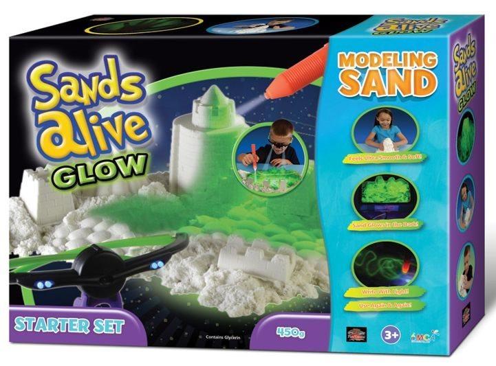 Písek Sands Alive! GLOW - startovací balení
