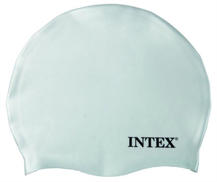 Plavecká koupací čepice INTEX - Bílá - silikonová