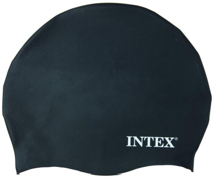 Plavecká koupací čepice INTEX - Černá - silikonová