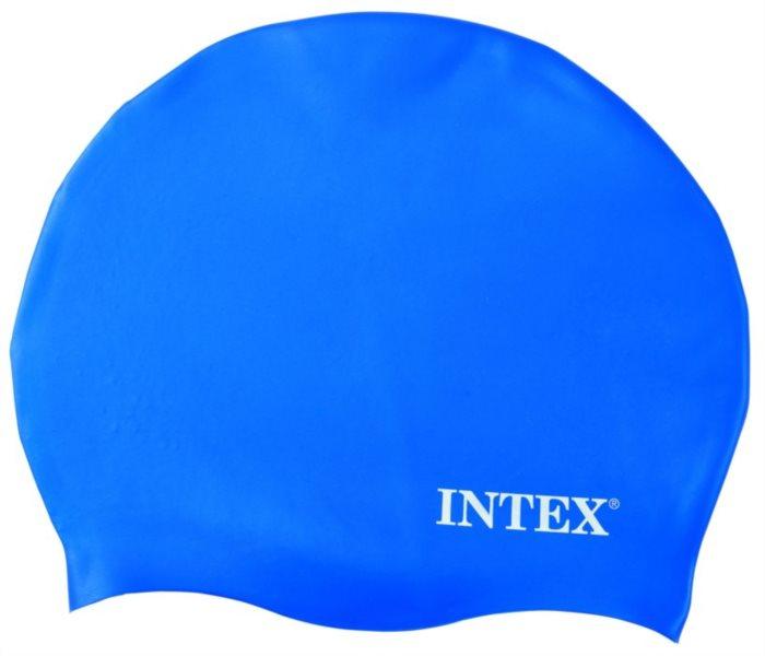 Plavecká koupací čepice INTEX - Modrá - silikonová