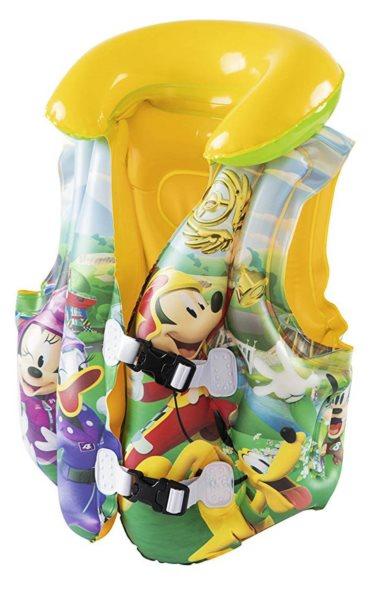 BESTWAY Plavecká vesta Mickey Mouse a závodníci, 3-6 let