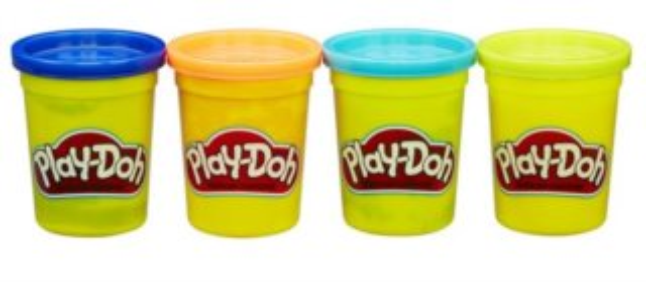 Play-Doh: Sada 4 kelímků plastelíny A