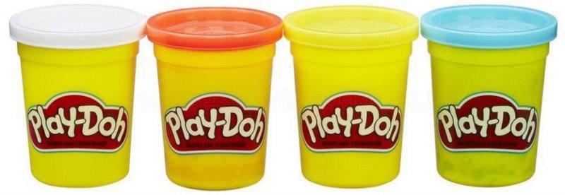 Play-Doh: Sada 4 kelímků plastelíny B