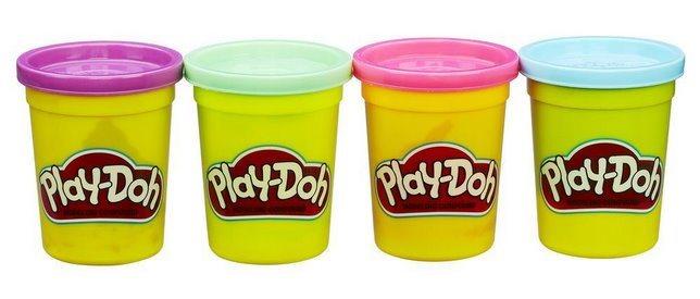 Play-Doh: Sada 4 kelímků plastelíny C
