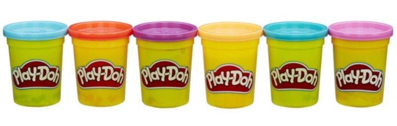 Play-Doh: Sada 6 kelímků plastelíny (výrazné barvy)
