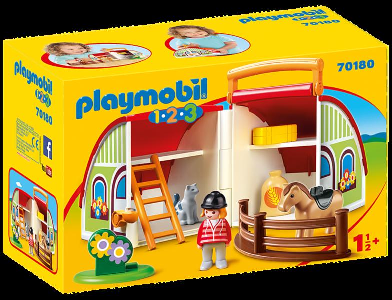 PLAYMOBIL® 1.2.3. 70180 Moje přenosná jezdecká stáj