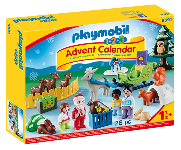 PLAYMOBIL® 1.2.3 9391 Adventní kalendář Vánoce v lese