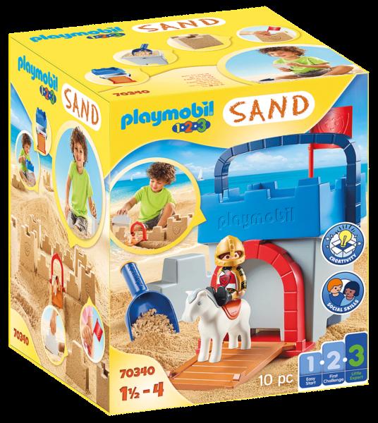 PLAYMOBIL® 1.2.3.,Sand 70340 Sada na písek Hrad
