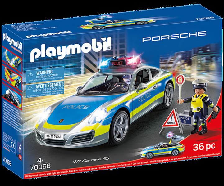 PLAYMOBIL® 70066 Porsche 911 Carrera 4S Policie se zvukem a světly