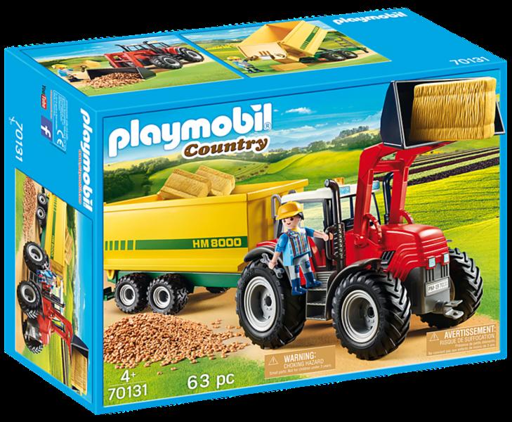 PLAYMOBIL® Country 70131 Velký traktor s přívěsem