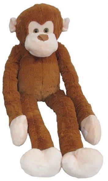 MAC TOYS - Plyšová opice - světle hnědá