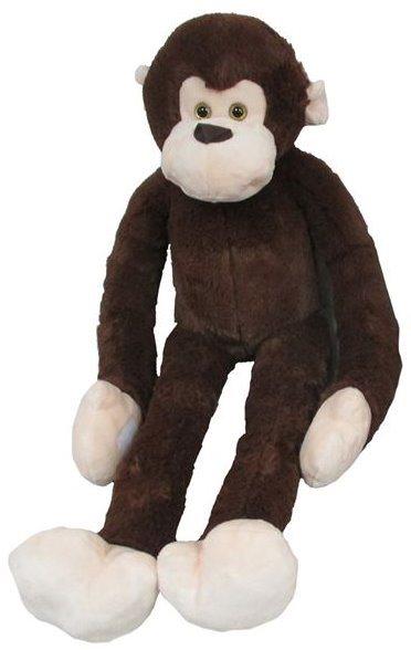 MAC TOYS - Plyšová opice - tmavě hnědá