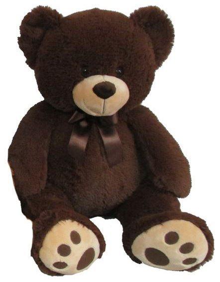 MAC TOYS - Plyšový medvídek - tmavě hnědý