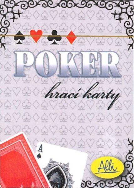 Poker hrací karty - červené, ALBI