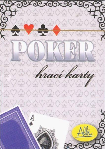 Poker hrací karty - modré, ALBI