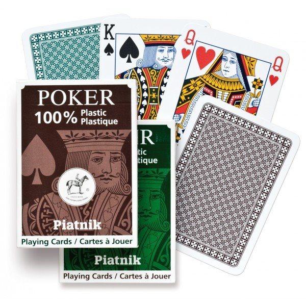 PIATNIK Plastic Poker Single - Plastové hrací karty
