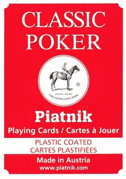 PIATNIK Poker Classic - hrací karty
