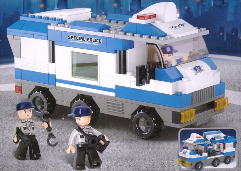 Stavebnice SLUBAN Policejní řídící vůz