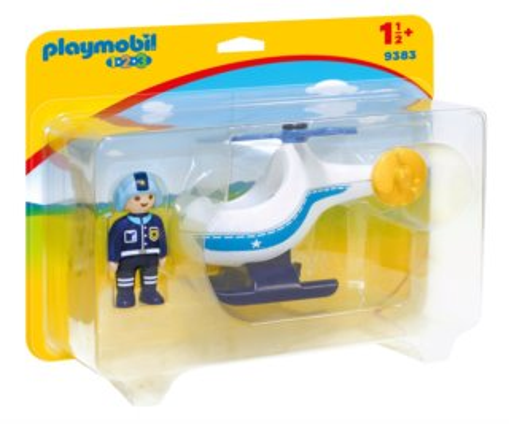PLAYMOBIL Policejní vrtulník (1.2.3) 9383